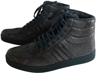 Gucci Blue Python Trainers