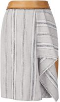 Sophie Theallet striped basketweave skirt - women - Cotton/Linen/Flax/Acrylic/Polyamide - 6
