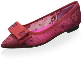 Le Babe Women's Flat with Bow