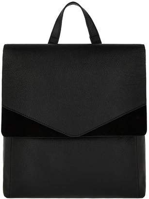 Accessorize Ivy Leather Backpack - Black