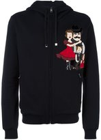 Dolce & Gabbana Family patch hoodie - men - Cotton/Calf Leather - 48