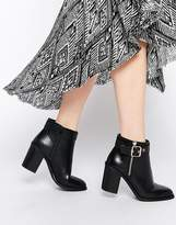 Miss KG Janelle Buckle Heeled Ankle Boots