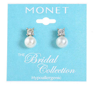 MONET JEWELRY Monet Jewelry The Bridal Collection Simulated Pearl 15mm Stud Earrings