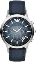Giorgio Armani AR2473 43mm Stainless Steel Case Leather Mineral Men's Watch