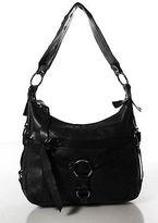Barbara Bui Black Leather Buckle Strap Front Hobo Shoulder Handbag
