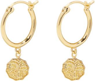 Gorjana Milano Coin Charm Huggie Hoop Earrings