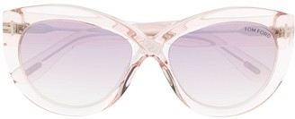Tom Ford Clear Gradient Cat-Eye Sunglasses