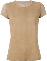 Majestic Filatures panel T-shirt - women - Leather/Linen/Flax - 4
