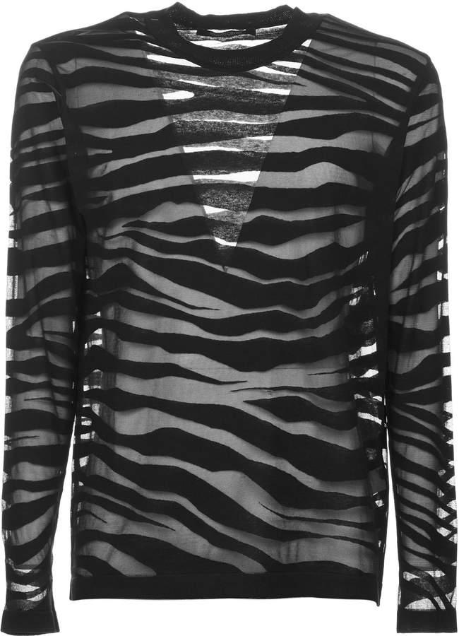 Roberto Cavalli Zebra Striped Sweater