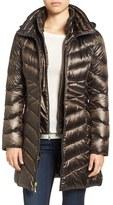 Ellen Tracy Women's Hooded Down & Polyfill Coat