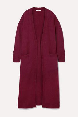 Co Oversized Wool-blend Bouclé Cardigan - Burgundy
