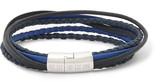 Tateossian Cobra Woven Leather Silver-Tone Bracelet