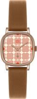 Orla Kiely OK2056 Iris leather and stainless steel watch