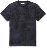 Etro Slim-Fit Printed Cotton-Jersey T-Shirt
