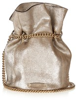 Lanvin Metallic suede bucket bag