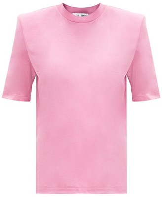 ATTICO Padded-shoulder Cotton T-shirt - Pink