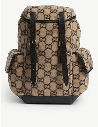 Gucci GG Jacquard wool backpack