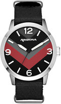 Arizona Mens Black Strap Watch-Fmdarz526