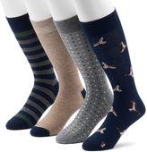 Croft & Barrow Men's 4-pack Duck & Patterned Crew Socks