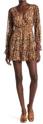 Kenedik Leopard Print Mesh Mini Dress