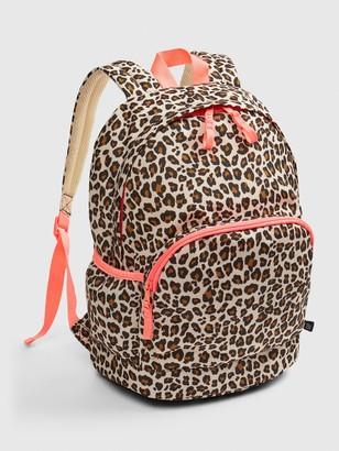 Gap Kids Leopard Print Senior Backpack