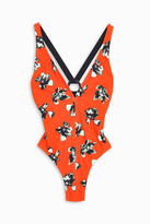 Proenza Schouler Floral Plunging Maillot