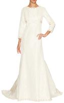Oscar de la Renta Silk Bateau Neck Mermaid Gown