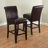 Monsoon Milan Faux Leather Counter Stools (Set of 2)