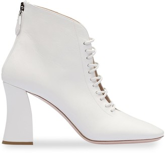 Miu Miu Lace-Up Ankle Booties