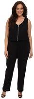Karen Kane Plus Plus Size Zip Front Jumpsuit