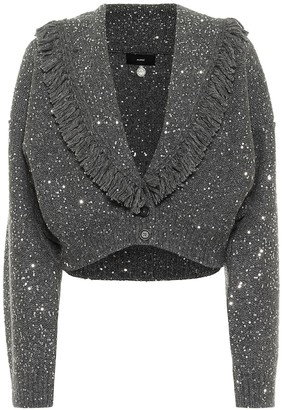 Alanui Stardust sequined wool and silk cardigan