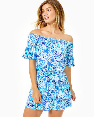 Lilly Pulitzer Samia Off-The-Shoulder Romper