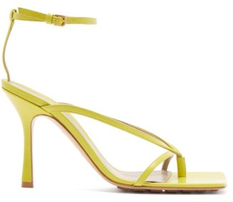 Bottega Veneta Square-toe Leather Sandals - Green