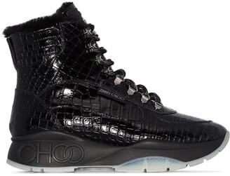 Jimmy Choo Inca croc-effect sneaker boots