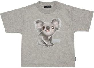 Balenciaga Koala Print Cotton Jersey T-shirt