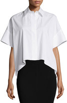 Alice + Olivia Edyth High-Low Short-Sleeve Shirt