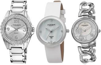 Akribos XXIV Women's Diamond Watch Set