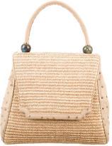 Kara Ross Straw & Ostrich Handle Bag