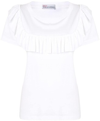RED Valentino ruffle-detail T-shirt