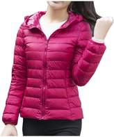 Partiss Women's Winter Zip Up Packable Lightweight Down Jacket with Hood(Chinese S,)