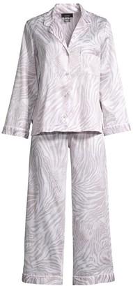 Natori 2-Piece Zebra Sateen Pajama Set