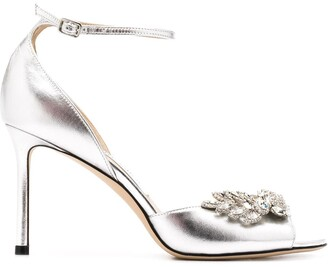 Jimmy Choo Tris 85mm crystal-embellished sandals