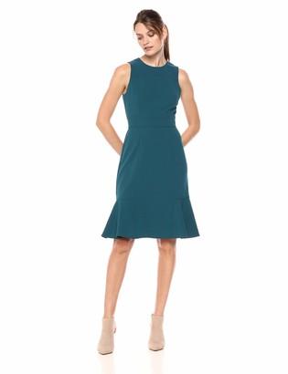 Brinker & Eliza Women's Sleeveless Dress with Flounce Hem