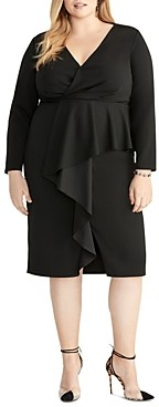 Rachel Roy Plus Joanna Ruffle-Front Sheath Dress