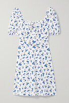 Thumbnail for your product : HVN Holland Printed Cotton-blend Poplin Mini Dress - White