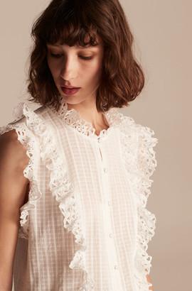 Rebecca Taylor La Vie Palm Embroidery Top