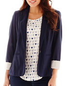 JCPenney STYLUS Stylus Long-Sleeve Knit Blazer