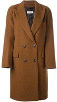 Alberto Biani double breasted coat - women - Alpaca/Virgin Wool/Polyamide/Acetate - 44