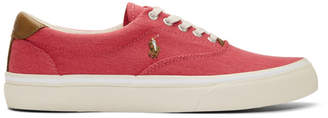 Polo Ralph Lauren Red Twill Thorton Sneakers