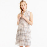 J.Crew Collection tiered silk dress